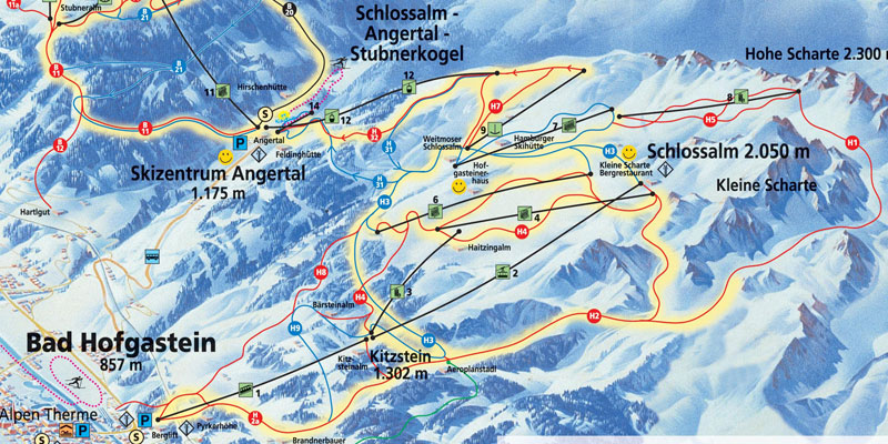 Bad-Hofgastein-piste-map