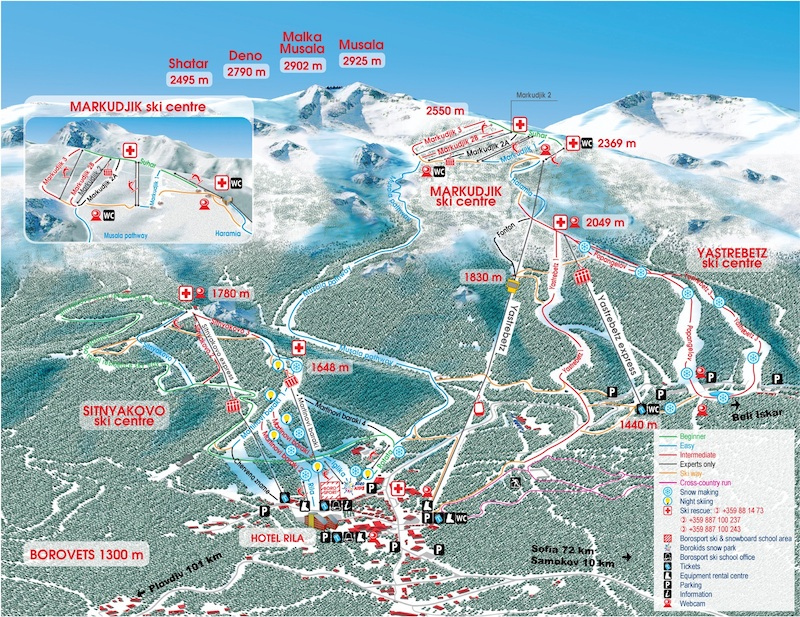 Borovets-where-to-ski-map