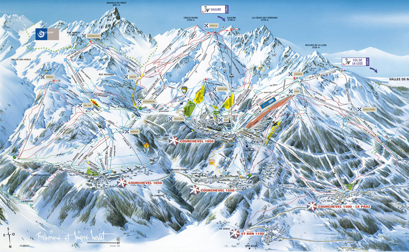 Courchevel-Pistemap