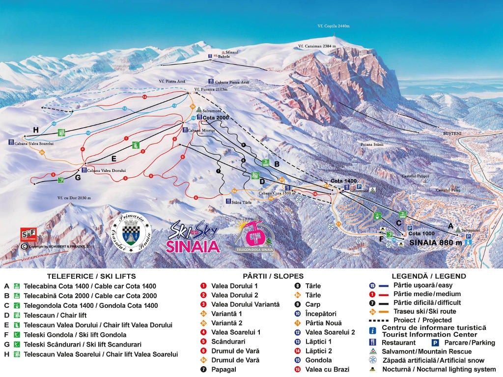Sinaia-piste-map