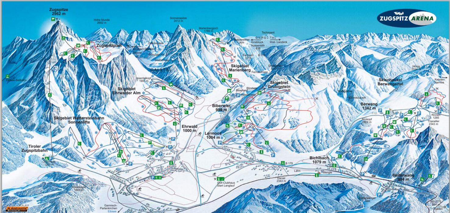 Garmisch Piste Map